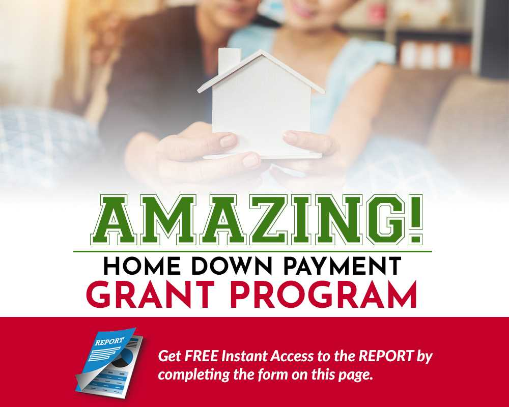 home down payment program form