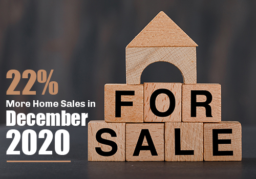 22% More Home Sales in December 2020 than in December 2019