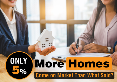Did Only 5% More Homes Come on Market Than What Sold