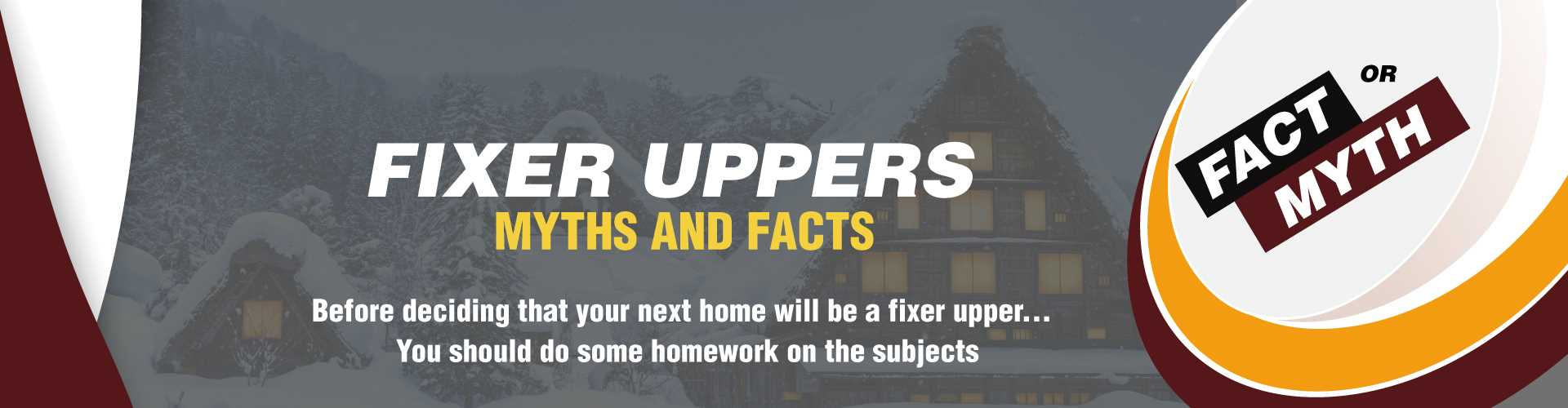 Fixer Uppers - What You Should Know Before You Buy  Image