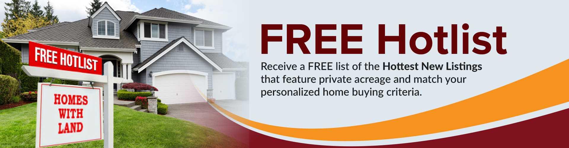 Hotlist of Properties on Acreage Image